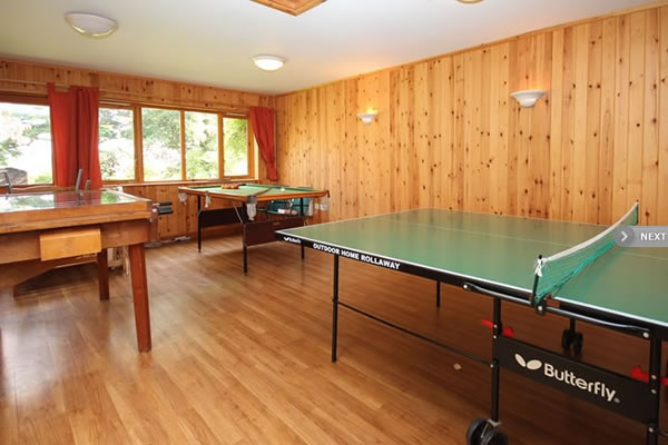 Holiday Lodges Games Room